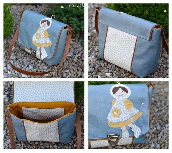Makerist - Tasche Lina von Zaubernahnna mit Applikation Kapuzenmädchen - Nähprojekte - 1