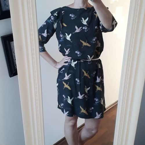 Makerist - Frau Smilla Kleid mit Vögeln - Nähprojekte - 1