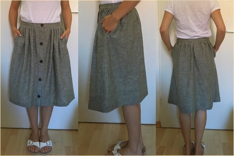 Makerist - 'Afternoon Skirt' aus Leinen - Nähprojekte - 1