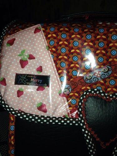 "Makerist - ""Erdbeerchen"" - Tolle Handtasche aus Kunstleder u anderen Elementen  - Nähprojekte - 2"
