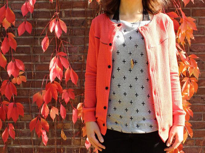 """Makerist - Shirt """"Stella"""" aus grauem Jersey - Nähprojekte - 1"""