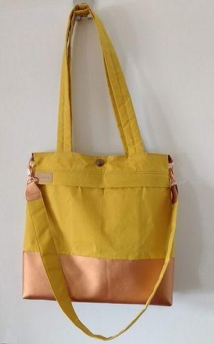 Makerist - Yello Bag aus Dry Oilskin und Kunstleder - Nähprojekte - 1