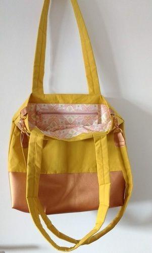 Makerist - Yello Bag aus Dry Oilskin und Kunstleder - Nähprojekte - 2