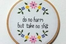 Makerist - do no harm but take no shit - 1