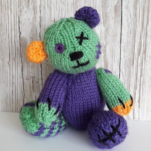 Makerist - Halloween teddy - Knitting Showcase - 1