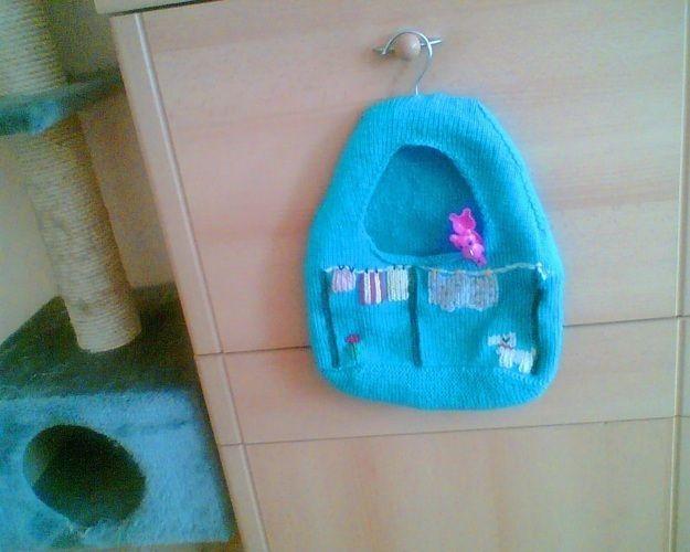 Makerist - Klammerbeutel aus Baumwolle Meine Tochter/ Bild für mich - Strickprojekte - 1