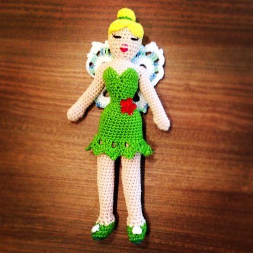 Makerist - Gehäkelte Tinkerbell-Puppe für meine Tochter - Häkelprojekte - 1