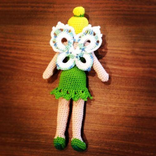 Makerist - Gehäkelte Tinkerbell-Puppe für meine Tochter - Häkelprojekte - 2