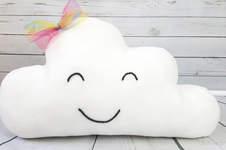 Makerist - Freundliches Wolkekissen aus Fleece - heiter bis wolkig - 1