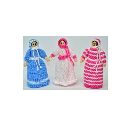 Makerist - Victorian Peg Dolls - DK Wool - Knitting Showcase - 1