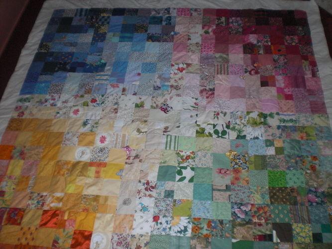 Makerist - Patchworkdecke ca. 210 x 210  - Nähprojekte - 2