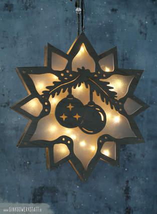 """Makerist - Leuchtstern """"Weihnachtskugel"""" - 1"""