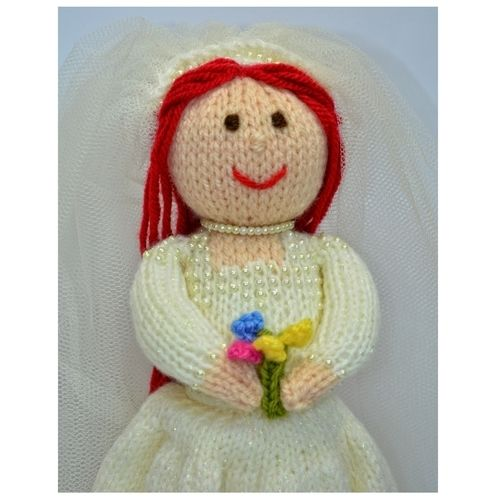 Makerist - Bride Doll Knitting Pattern - DK Wool - Knitting Showcase - 2