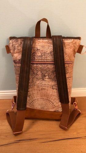 Makerist - Hikebag von Unikati mit Weltkarte - Nähprojekte - 2