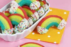 Makerist - Regenbogen-Butterplätzchen mit weisser Schokolade-Wolken - 1