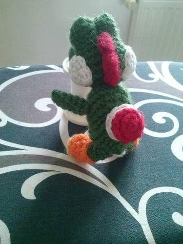 Crochet Yoshi Amigurumi Tutorial Part 3 - YouTube | 500x375