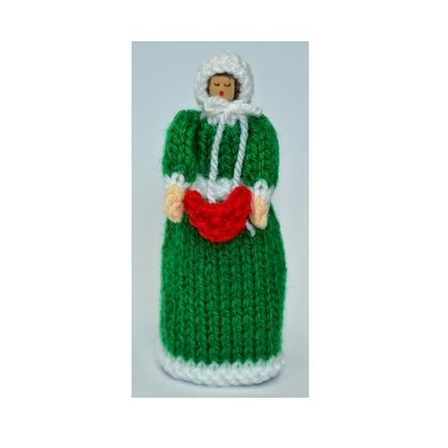 Makerist - Christmas Carol Singer Peg Doll - DK Wool - Knitting Showcase - 1