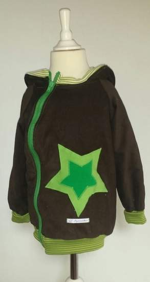 Makerist - Drachenjacke. Gemacht aus Feincord und Jersey. Die Jacke ist für meinen Sohn. er liebt Drachen. - 1