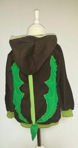 Makerist - Drachenjacke. Gemacht aus Feincord und Jersey. Die Jacke ist für meinen Sohn. er liebt Drachen. - Nähprojekte - 2