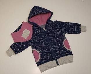 """Makerist - Eine """"Sweat""""Jacke für ein Babymädchen - 1"""