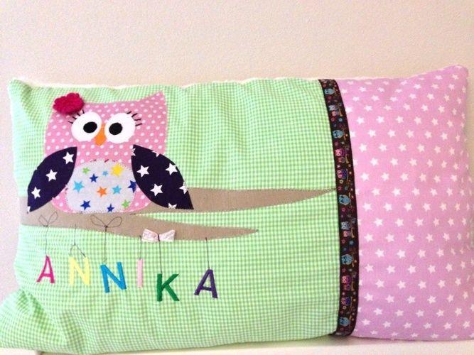 Makerist - Eulen Kissen aus Baumwollstoffen für meine Nichte.  - Nähprojekte - 1