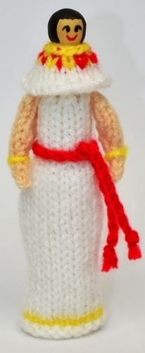 Makerist - Ancient Egyptian Peg Doll - DK Wool - Knitting Showcase - 2