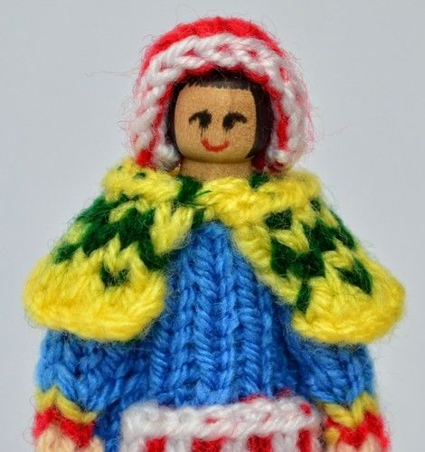 Makerist - Lapland Costume Peg Doll - DK Wool - Knitting Showcase - 2