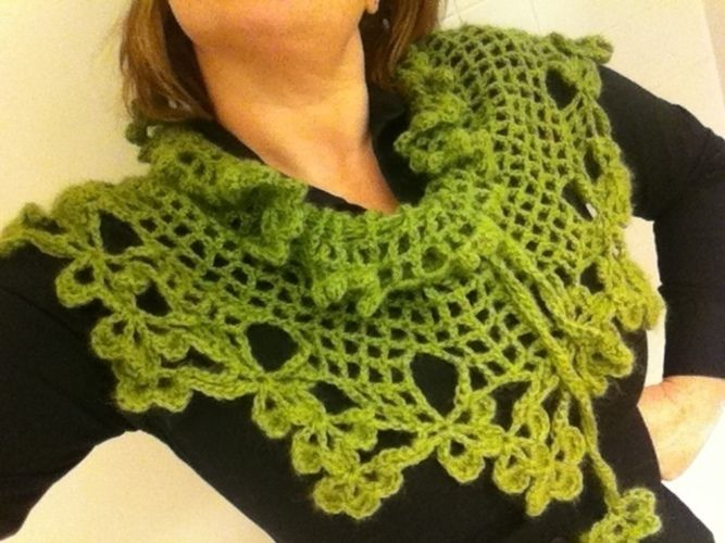 Makerist - Green Shamrock Shawl - Häkelprojekte - 1