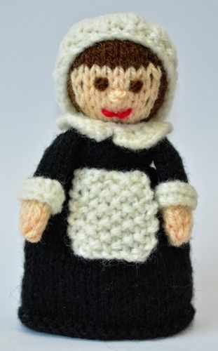 Makerist - Pilgrim Doll Egg Cosy - DK Wool - Knitting Showcase - 2