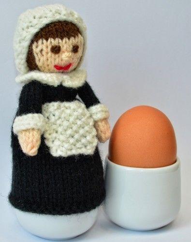 Makerist - Pilgrim Doll Egg Cosy - DK Wool - Knitting Showcase - 3
