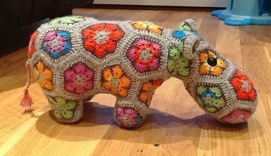 Makerist - Nilpferd aus afrikanische Blumen  - Häkelprojekte - 1