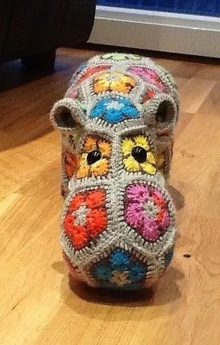 Makerist - Nilpferd aus afrikanische Blumen  - Häkelprojekte - 2