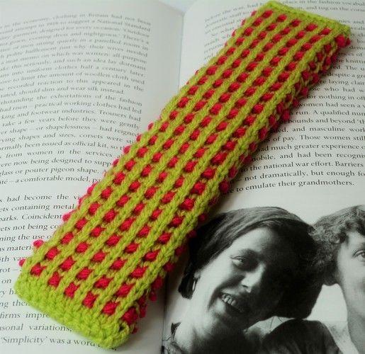 Makerist - Basket Rib Bookmark - DK Wool - Knitting Showcase - 3