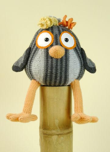 Makerist - Komischer Vogel in Grau - Strickprojekte - 1