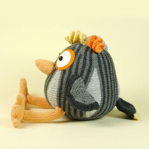 Makerist - Komischer Vogel in Grau - Strickprojekte - 3