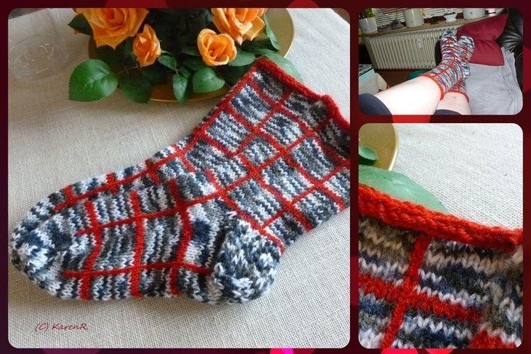 Makerist - Socken... meliert/kariert - Strickprojekte - 1