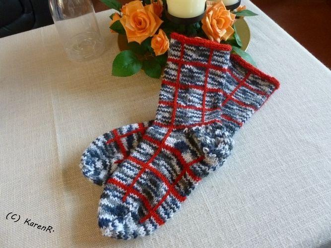 Makerist - Socken... meliert/kariert - Strickprojekte - 2