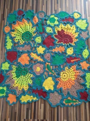Makerist - Herbst Decke - Häkelprojekte - 1