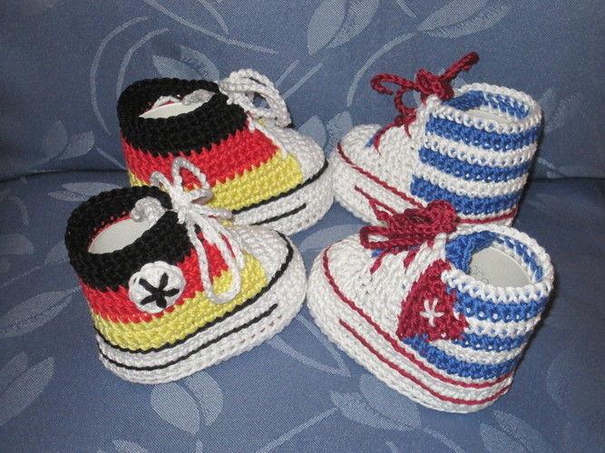 Makerist - WM-Babyschühchen - Häkelprojekte - 1