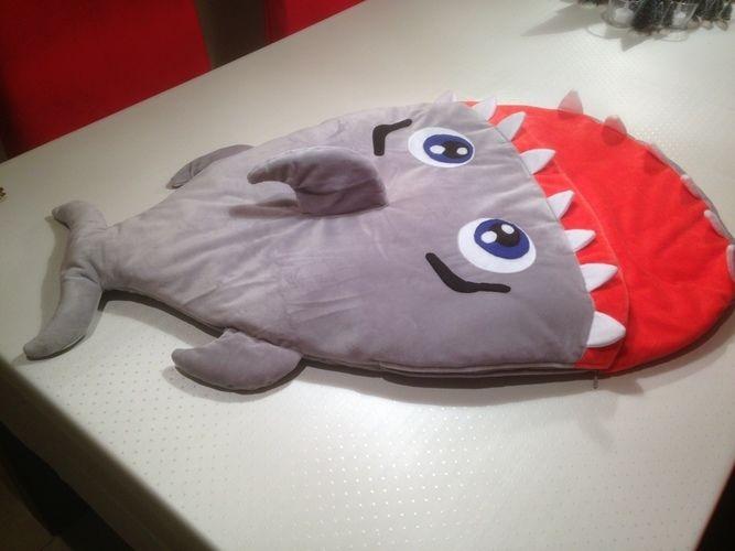Makerist - Hai Schlafsack für meine Enkeltochter, die bald das Licht der Welt erblickt. - Nähprojekte - 1