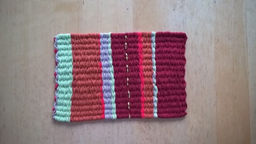 Makerist - kleiner tibetischer Teppich gewidmet für Regina - Textilgestaltung - 1