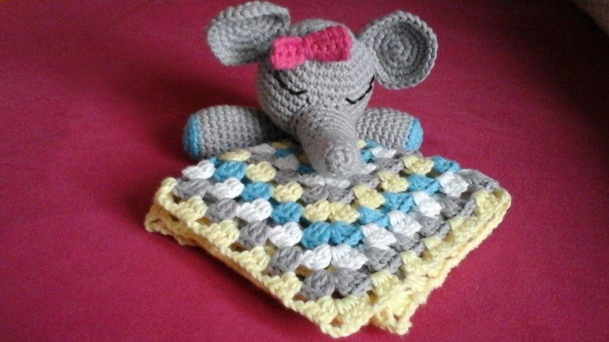 Makerist - Doudou tite fille éléphant  pour ma tite nièce 21 mois,l - Créations de crochet - 2