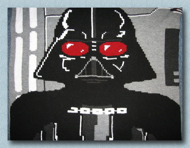 Makerist - Star Wars Krabbeldecke Darth Vader - Strickprojekte - 1