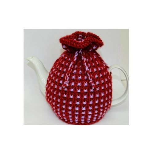 Makerist - Basket Ribbed Tea Cozy Knitting Pattern - DK Wool - Knitting Showcase - 1