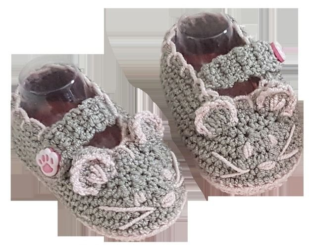 Makerist - Mouse Crochet Baby Booties - 0 - 12 months - Crochet Showcase - 1