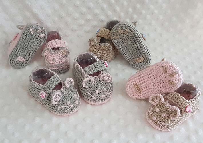 Makerist - Mouse Crochet Baby Booties - 0 - 12 months - Crochet Showcase - 2