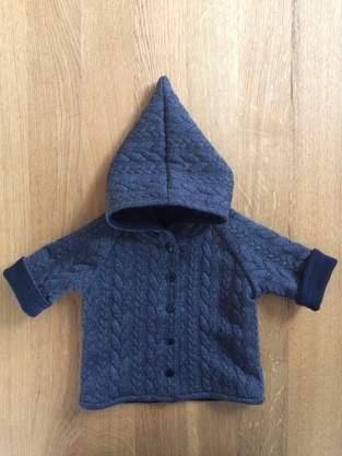 Raglan-Babyjacke zum Wenden