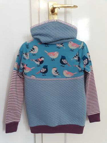 Makerist - Hoodie mit Vögelchen - Nähprojekte - 3