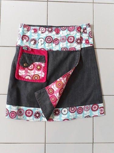 Makerist - Wenderock mit Jeansstoff Mädchen - Nähprojekte - 1