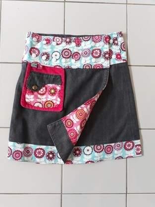 Makerist - Wenderock mit Jeansstoff Mädchen - 1